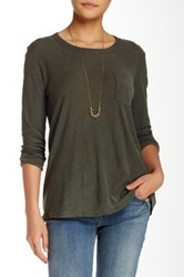 James Perse A Line Pocket Tee Green