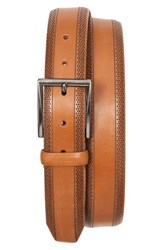 Men's Tommy Bahama Perforated Leather Belt Tan