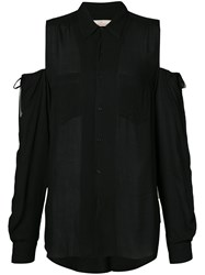 A.F.Vandevorst Cut Out Shoulders Shirt Women Viscose S Black