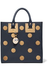 Sophie Hulme Albion Square Embellished Leather Tote Navy