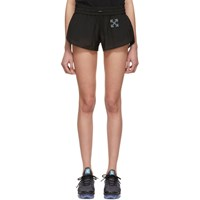 Off White Ssense Exclusive Black Workout 'Sport' Transparent Shorts