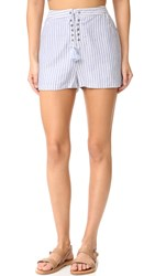 The Jetset Diaries Haven Shorts Chambray Stripe