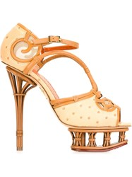 Charlotte Olympia 'I Dream Of Africa' Sandals Nude And Neutrals