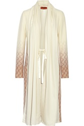 Missoni Wool Cashmere And Silk Blend Duster Coat White