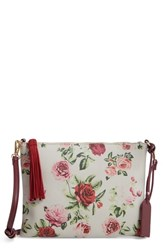Sole Society Printed Faux Leather Pouch Red Gingham Floral