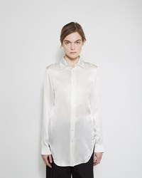 Jil Sander Angie Silk Blouse Natural