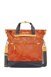 Tumi Perch Nylon Convertible Backpack Tote Orange