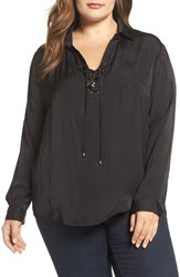 Tart Plus Size Women's Georgia Lace Up Blouse