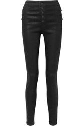 J Brand Natasha Coated High Rise Skinny Jeans Black