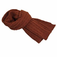 40 Colori Rust Solid Thick Wool Scarf Red