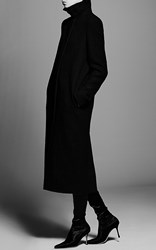 Protagonist Wool Cocoon Coat Black