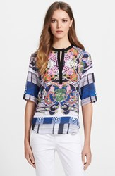Clover Canyon Women's 'Swirling Scarf' Print Georgette Top
