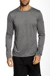 Asics Printed Long Sleeve Top Gray