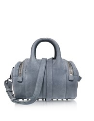 Alexander Wang Handbags Mini Rockie Washed Denim Pebble Nubuck Satchel Bag