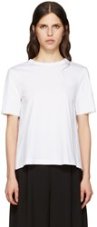 Marni White Tie Back T Shirt