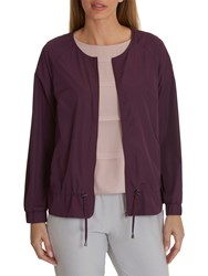 Betty And Co. Unlined Bomber Jacket Blackberry