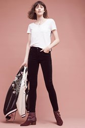 Anthropologie Citizens Of Humanity Rocket High Rise Velour Skinny Jeans Black