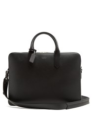 Smythson Panama Leather Briefcase Black