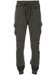Haider Ackermann Distressed Layered Track Pants Green