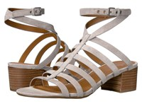 Franco Sarto Finesse Vapor Grey Lux Brushed Suede Women's Sandals Gray