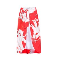 Ganni Exclusive To Mytheresa.Com Tie Dye Beach Skirt Red