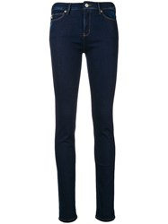 Love Moschino Mid Rise Skinny Jeans Blue