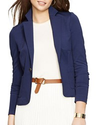 Lauren Ralph Lauren Petite Single Button Blazer Blue
