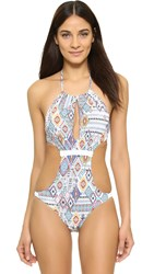 Red Carter Free Spirit Monokini White Multi