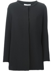 Armani Collezioni Short Collarless Coat Black