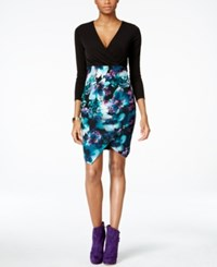 Thalia Sodi Floral Print Faux Wrap Dress Only At Macy's