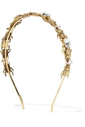 Lelet Crawl Gold Plated Swarovski Crystal Embellished Headband One Size