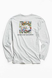The North Face Red Box Long Sleeve Tee Grey Multi
