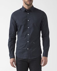 Diesel Navy Blue Micro Flower Blanca Shirt