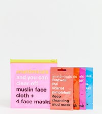 Anatomicals Asos Exclusive And You Can Clear Off. Muslin Face Cloth And 4 Face Masks Face Mask