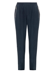 Baja East Broadcloth Silk Relaxed Leg Trousers