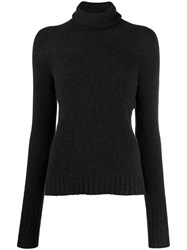 Nuur Roll Neck Fitted Sweater Black