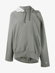 Vetements X Champion Hooded Sweatshirt Grey