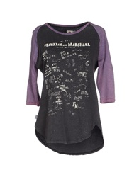 Franklin And Marshall T Shirts Grey