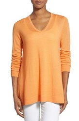 Women's Nordstrom Collection Button Back V Neck Cashmere Sweater