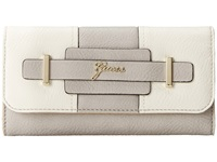 Guess Greyson Slim Clutch Dove Multi Clutch Handbags