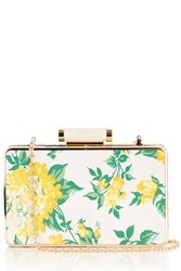 Oasis Blossom Box Clutch Yellow