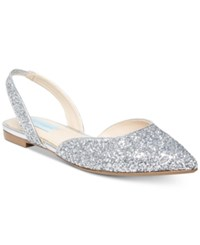 Blue By Betsey Johnson Mimi Evening Sandals Silver Glitter