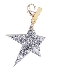Star Bag Charm Gold Silver Gold Silver Edie Parker