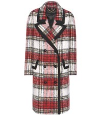 Burberry London England Check Mohair And Wool Blend Coat Multicoloured