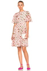 Valentino Daisy Print Crepe De Chine Mini Dress In Floral Pink Floral Pink