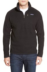 Men's Patagonia 'Better Sweater' Quarter Zip Pullover Black