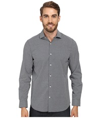 Perry Ellis Slim Fit Mosaic Print Shirt Castlerock Men's Long Sleeve Button Up Gray