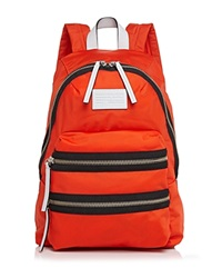 Marc By Marc Jacobs Backpack Domo Arigato Packrat Colorblock Bright Tangelo
