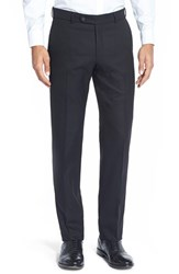 Men's Big And Tall Ballin Flat Front Solid Stretch Wool Trousers Black