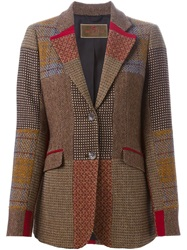 Etro Patchwork Tweed Blazer Multicolour